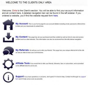 clients area