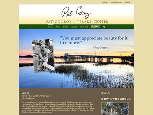 Pat Conroy Literary Center website