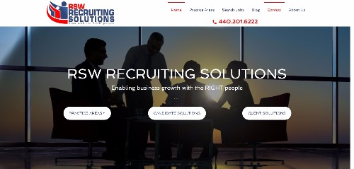 RSW Recruiting Solutions website