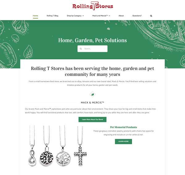 Rolling T Stores website